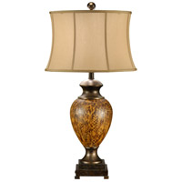 Wildwood Lamps Tortoise Effect Table Lamp in Hand Colored Porcelain With Old Brass 46642