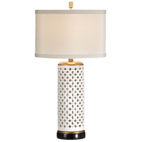 Wildwood Lamps Pierced Clubs Table Lamp in Black With Gold Mounting 46646