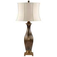 Wildwood Lamps Slender Flutes Table Lamp in Speckled Gold On Ceramic 46647 photo thumbnail