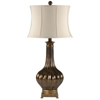 Wildwood Lamps Slender Neck Table Lamp in Old Splotched Gold On Ceramic 46648