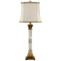 Wildwood 46655 Crystal 33 inch 100 watt Brass Table Lamp Portable Light  photo thumbnail
