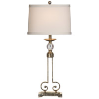 Wildwood Lamps Curlicue And Crystal Table Lamp in Old Silver 46672