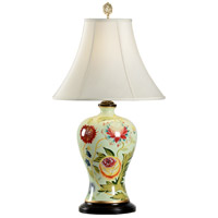 Flowers 29 inch 100 watt Hand Painted Acrylic Table Lamp Portable Light