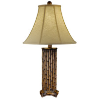 Wildwood Lamps Bamboo Column Table Lamp in Hand Finished 46716