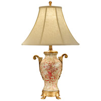 Wildwood Lamps Simple Toile Table Lamp in Hand Painted Acrylic On Porcelain 46748