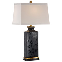 Wildwood Lamps Delicate Evening Bamboo Table Lamp in Burnt Gold Accents 46755 photo thumbnail