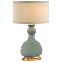 Wildwood Lamps Crackle Green Bottle Table Lamp in Burnt Gold Mounting 46759