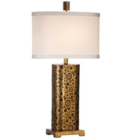 Wildwood Lamps Washers N Washers Table Lamp in Hand Colored Old Gold With Bronze 46765