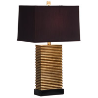 Wildwood 46766-2 Stacks Of Slats 30 inch 100 watt Hand Decorated Table Lamp Portable Light