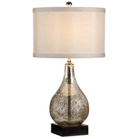 Marketplace 28 inch 100 watt Antiqued Glass Table Lamp Portable Light
