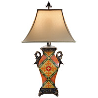 Wildwood Lamps Handled Urn Table Lamp in Hand Painted Decor On Porcelain 46817