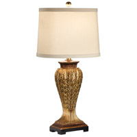 MarketPlace 30 inch 100 watt Aged Gold Leaf And Bronze Expresso Table Lamp Portable Light