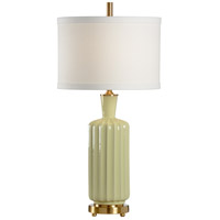 Wildwood Lamps Ribs Ribs Table Lamp in Glazed Porcelain With Designer Color 46869 photo thumbnail