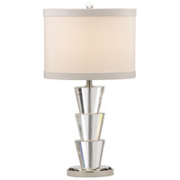 Wildwood Lamps Flared Ovals Table Lamp in Solid Cast Crystal 46874