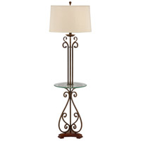 Wildwood Lamps Table Floor Lamp in Old Black Iron Finish 46877