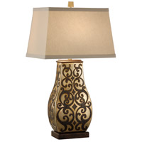 Wildwood Lamps Paired Seraphs Table Lamp in Antique Gold On Porcelain 46883 photo thumbnail