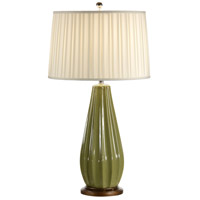 Wildwood Lamps Ribbed Gourd Table Lamp in Hand Decorated Crackle Glaze Porcelain 46885