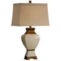 Wildwood Lamps Classic Squares Table Lamp in Hand Decorated Crackle Glaze Fired Porcelain 46887 photo thumbnail