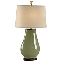 Wildwood Lamps Round To Square Table Lamp in Crackle Glaze Fired Porcelain 46888 photo thumbnail