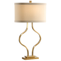 Wildwood 46899 Marketplace 31 inch 100 watt Antiqued Brass Table Lamp Portable Light