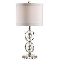 Wildwood Lamps MarketPlace 1 Light Rings And Spheres Lamp Solid Crystal Table Lamp in Polished Nickel 46900