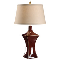 Wildwood Lamps MarketPlace 1 Light Waisted Square Lamp Hand Glazed And Trimmed Table Lamp in Porcelain 46908