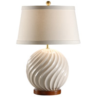 Wildwood Lamps MarketPlace 1 Light Ball In Twist Lamp Table Lamp in Antique White 46911