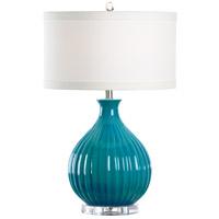 Wildwood 46952 MarketPlace 26 inch 100 watt Turquoise Crackle Glaze Table Lamp Portable Light