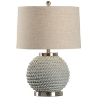 Marina 24 inch 100 watt Ceramic and Nickel Table Lamp Portable Light