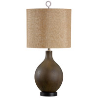 Conoco 32 inch 100 watt Multi Brown With Gold Table Lamp Portable Light