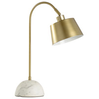 Brax 21 inch 60 watt Antique Brass Table Lamp Portable Light