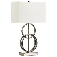 Aldo 26 inch 100 watt Black Nickel Table Lamp Portable Light