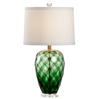 47112 Wildwood Wildwood 26 inch 100 watt Green/Clear Table Lamp Portable Light