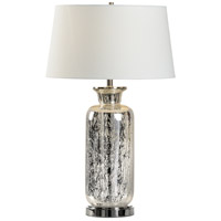 Wildwood 47116 MarketPlace 33 inch 100.00 watt Silver Art Glass/Polished Nickel Table Lamp Portable Light