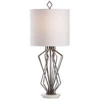 Wildwood 47136 MarketPlace 35 inch 100.00 watt Antique Gray/Natural White Table Lamp Portable Light