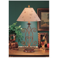Wildwood Lamps Iron Angles Table Lamp in Art Glaze Florentine Iron 4717 photo thumbnail