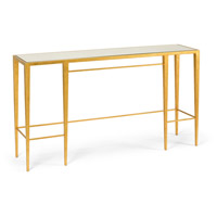 Wildwood Lamps 490045 Chelsea 60 inch Antique Gold Leaf and Antique Mirror Console Table Home Decor