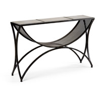 Wildwood Lamps 490055 Brooklyn 50 inch Raw Steel and Gray Console Table
