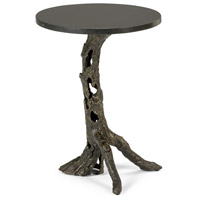 Woody 16 inch Bronze and Black Side Table Home Decor