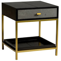 Lawson 22 inch Black and Antique Brass Side Table Home Decor