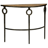 Hudson Bronze and Faux Burl Wood Console