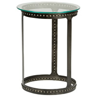 Willis 16 inch Iron and Clear Side Table Home Decor