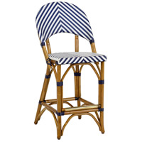Bedford 39 inch Navy and White Counter Stool