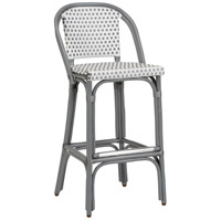Beaumont 42 inch Grey and White Bar Stool