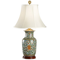 Herald Hiding 31 inch 100 watt Hand Painted Crackle Porcelain Table Lamp Portable Light