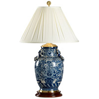 Flowers 35 inch 100 watt Hand Painted Porcelain Table Lamp Portable Light