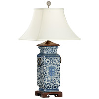 Wildwood Lamps Blue White Heralds Table Lamp in Hand Painted Porcelain 5294
