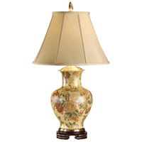Wildwood Lamps 5329 Flowers 31 inch 100 watt Hand Painted On Porcelain Table Lamp Portable Light photo thumbnail