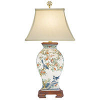 Birds 25 inch 60 watt Hand Painted Porcelain Table Lamp Portable Light