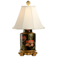 Flowers 21 inch 60 watt Hand Painted Lacquer On Porcelain Table Lamp Portable Light